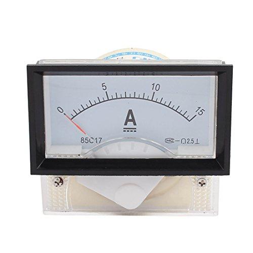 Aexit 85C 17-A Klasse 2.5 Genauigkeit DC 0-15A analoges Einbaumessgerät Amperemeter