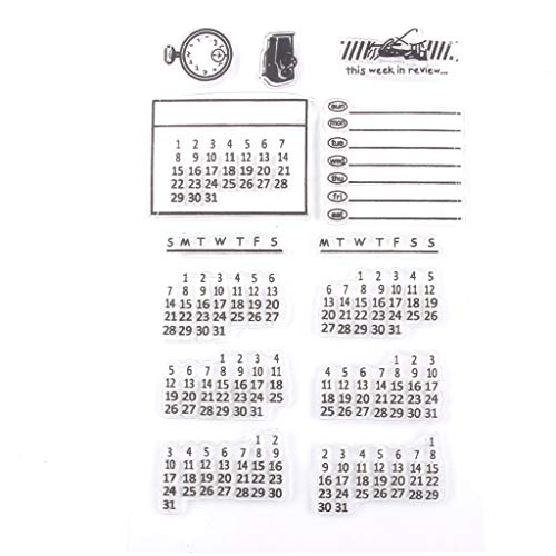 LYL-Calendars Calenders Silicone Clear Rubber Stamp Hoja Cling Scrapbooking DIY Transparente Stamp Stencil Tarjeta de Papel en Relieve (Color : Clear, tamaño : 11 * 16cm)