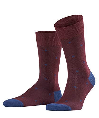 FALKE Herren Socken Dot - 88% Baumwolle, 1 Paar, Rot (Barolo 8596), Größe: 39-42