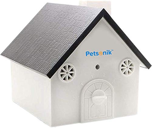 No Bark Bird Box for Dogs - Bird House | Dog Barking Deterrent Devices + Free E-Book | Ultrasonic No Bark Birdhouse | Outdoor Bark Stopper | Stop Dogs from Barking, Dog Silencer Bark Control