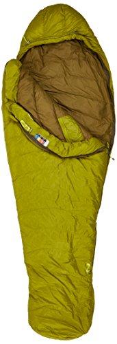 Marmot Hydrogen Daunen Mumienschlafsack leichter und warmer Schlafsack, Dark Citron/Olive, 198 cm