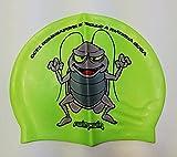 SWIMXWIN Gorro de silicona para natación y piscina, varios diseños divertidos (Scarrafone)