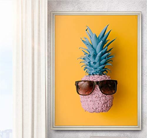 Rahmenlose Malerei Nordische kreative Banane Ananas Druck Leinwand Bild Wandkunst Gemälde schmücken das WohnzimmerZGQ4013 50X75cm