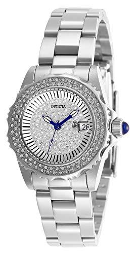 Invicta 28439 Angel Reloj para Mujer acero inoxidable Cuarzo Esfera plata