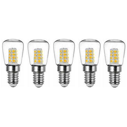 Liyuzhu 5pcs 3W E14 Koelkast LED lamp kristallen kroonluchters verlichting AC220V Bright Indoor Lamp For koelkast met vriesvak (Color : Warm white)