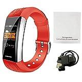 Rejoicing Smartwatch V1 Smart-Sport-Armband Herzfrequenz-Monitor für das Motoren, Blutsauerstoff, Gesundheit und Musiksteuerung, Verschiedene Zifferblätter Orange