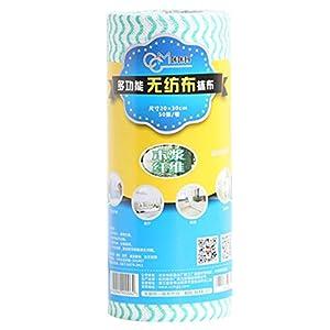 PPTS - Paño de limpieza para platos de cocina (tamaño de una sola pieza 11,8 x 7,87 pulgadas, 50 unidades por paquete), Verde, 50 tablets per pack