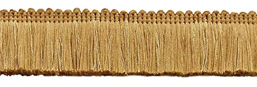 DÉCOPRO Gold, 45mm Basic TrimBrush Fringe Style# 0175SB Color: Gold - C4 (Sold by The Yard - 91cm / 3 Ft / 36\