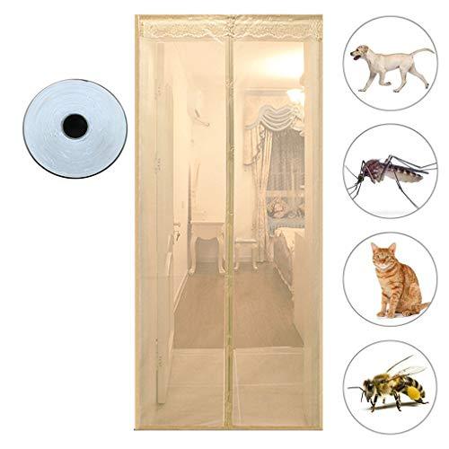 ZZZR Magnetisch vliegengaas, voor deur, insectenbescherming, 180 x 220 cm, magnetische vliegengordijn, klamboe automatisch sluiten, insectenbescherming voor balkondeur, woonkamer, terrasdeur, kleefmontage zonder boren