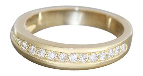 Hobra-Gold BRILLANTRING GOLD - DESIGNERRING MIT 12 BRILLANTEN - MASSIVER GOLDRING 585 RING