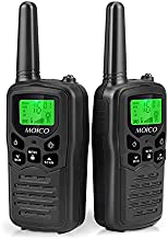 Walkie Talkies Long Range for Adults Two-Way Radios Up to 5 Miles in Open Fields 22 Channels FRS/GMRS VOX Scan LCD Display with LED Flashlight Ideal for Field, Survival Biking Hiking Camping(Black)