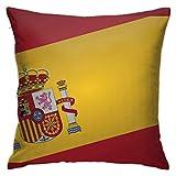 Emonye - Fundas de cojín de 45 x 45 cm, diseño de bandera de España