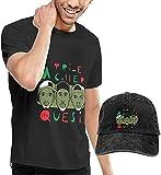 Camisa de Manga Corta para Hombre Tribe Called Quest Logo Men's Cotton Casual Short Sleeve T-Shirt Round Neck tee Top Blouse & Baseball Cap Trucker Hat Set