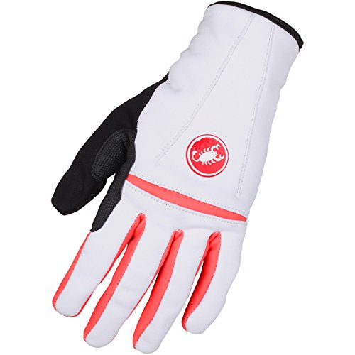 Castelli Guantes Mujer Cromo Blanco/Coral M
