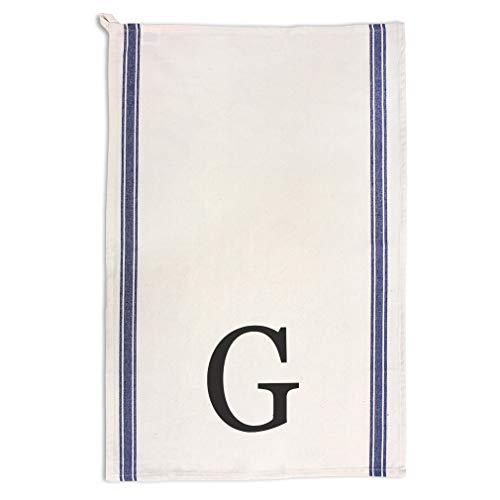 Custom Decor Kitchen Towels Alphabet Letter Monogram G Typography  Iowa