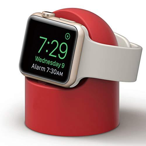 ATATMOUNT Soporte de Base de Silicona para Montaje en Soporte de Cargador Apple Watch Series 4/3/2/1 44mm / 42mm / 40mm / 38mm Cable de Carga