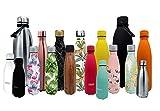 Nerthus FIH 459 Termo Doble Pared para frios y Calientes Diseño Bloque Multicolor de Acero Inoxidable 500 ml Libre de BPA, 18/8