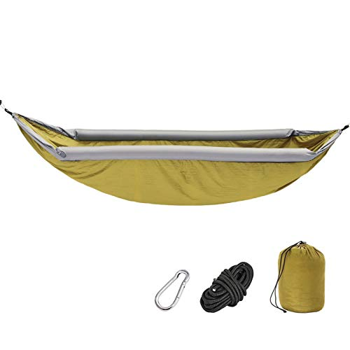 Hamaca al Aire Libre Swing Anti-Rollover Hamaca Inflable Campo Camping Camping Camping Viajes Adult Inicio Interior (Color : Yellow)