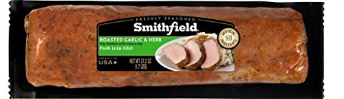 Smithfield, Roasted Garlic and Herb Freshly Seasoned Pork Loin Filet, Slow Marinated and Delicious,