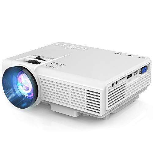 Proyector, Proyector de Video Soporta 1080P HD, Proyector Mini Compatible con TV Stick PS4 Xbox Wii HDMI VGA SD AV USB, Home Theater Proyector, Blanco. Clase de eficiencia energética A+++