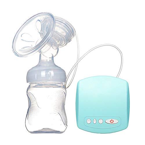 JXXZYH Elektrische Milchpumpe, Stillpumpe, tragbare, wiederaufladbare Dämpfer-Massage mit hohem Saugvermögen 9 und Absaugvorrichtung zum Stillen und Füttern des Babys,Blau