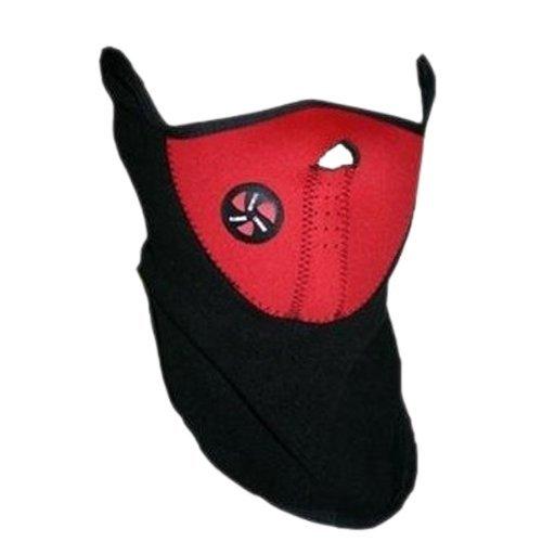 Tour de Cou cache nez oreille moto ski scooter Cagoule casque textile rouge noir