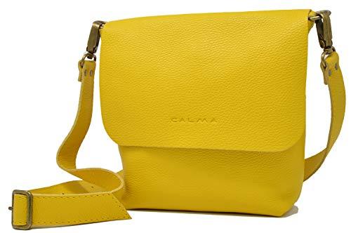 CP CALMA PROJECT - Crossbody Bag UN | Bolso Bandolera Mujer, Bolso Piel 100% Artesanal con Bolsillo Trasero y Correa Ajustable