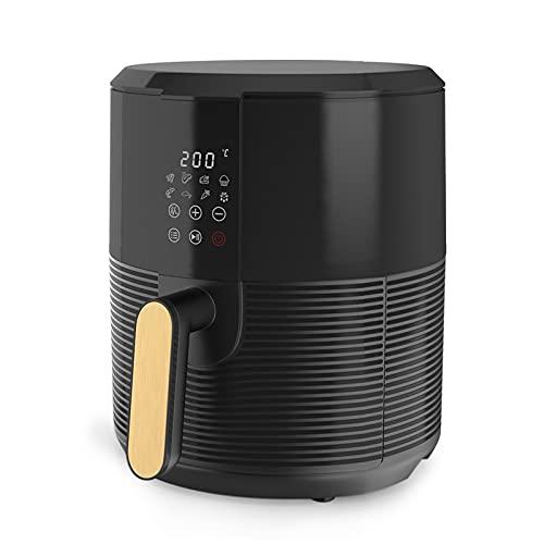 Friggitrice Ad Aria Friggitrice Senza Olio 3L, Air Fryer con Touchscreen Digitale a LCD, 8 Programmi, Tempo e Temperatura Regolabili, Senza BPA, Facile da Pulire, 1300W Nero