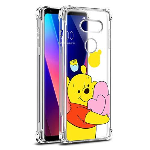Nico für LG V30/LG V30 Plus/LG V30S/LG V35 ThinQ/LG V35 Hülle, TPU Niedlich Karikatur Mode Lustig Spaß Silikon Kinder Schutzhülle Hülle Cover Weiche Bumper Handyhülle für LG V30 (Heart Bear)