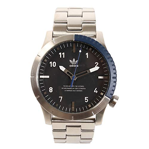 Adidas Herren Analog Quarz Smart Watch Armbanduhr mit Edelstahl Armband Z03-2184-00