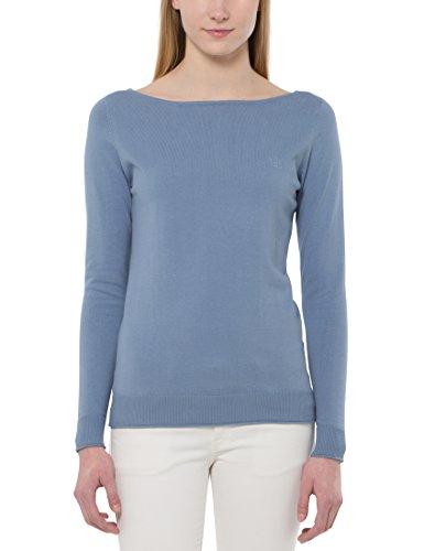 Berydale Damen Pullover in modischen Pastell-Farben, Blau (Nähte Inside Out), S