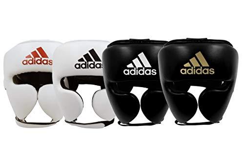 Adidas AdiStar Pro Kopfschutz für Erwachsene, Herren, Damen, Boxen, Sparring, Training, Fitnessstudio S schwarz / weiß
