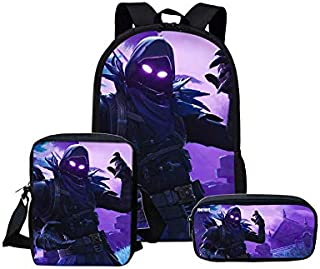 Fortnite backpack Students School Bag Set single-shoulder bag with pencil case