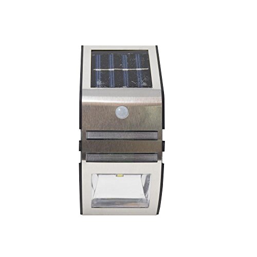 Grundig SMD roestvrij staal outdoor solar wandlamp wandlamp wandspot sensor