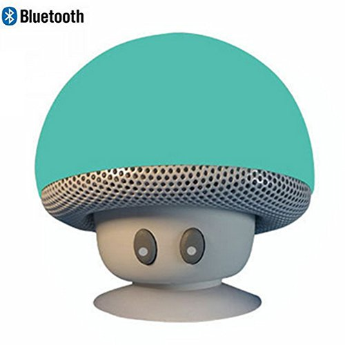 Leacoco Mini Wireless Portable Bluetooth Speakers with Mic and Sucker Portable Small Stereo for iPhone and Android System Equipment Etc. (Green)