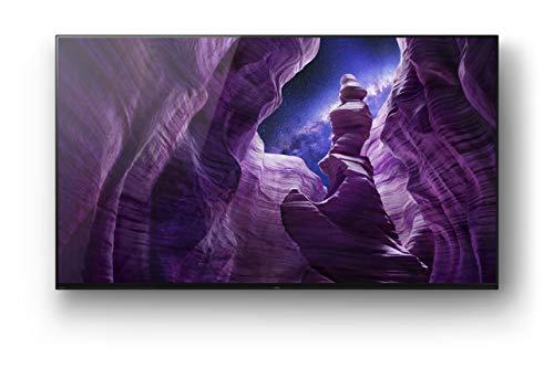 Sony KD-65A8 Bravia 164 cm ( 65 Zoll) Fernseher (Android TV, OLED, 4K Ultra HD (UHD), High Dynamic Range (HDR), Smart TV, Sprachfernbedienung, 2021 Modell), Schwarz