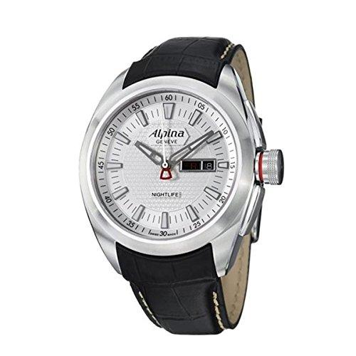 Alpina Herren-Armbanduhr Club Analog Quarz Leder 242S4RC6