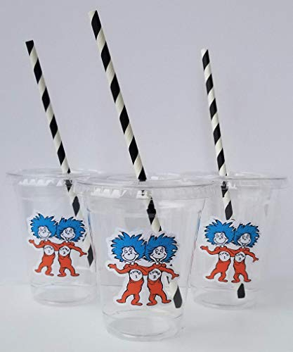 Set of 24 -Dr. Seuss Party Cups, Dr. Seuss Birthday Party, Thing 1 Thing 2...