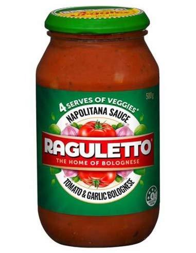 Raguletto Napolitana de Pasta con Salsa de 500gm