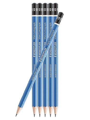 Staedtler Lumograph Pencils (Each) 6H [Pack of 12 ]