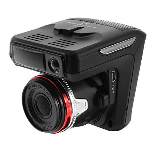 Sonline Grabadora DVR para Coche 2In1 HD Dash CAM 1080P Detector de Velocidad CáMara Grabadora de Video Grabadora de ConduccióN
