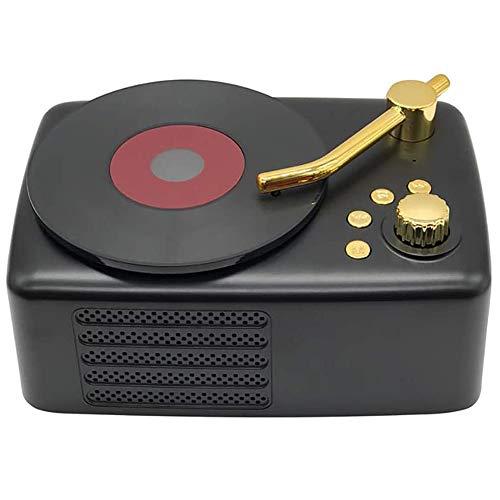 Angelay-Tian Altavoz Bluetooth Recargable, Reproductor de grabación de gramófono Soporte Bluetooth/Tarjeta de Plug-in/AUX Audio/U Disco for el hogar, al Aire Libre, Fiesta, Viajes (Color : C)