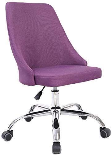 Elegante silla oficina, silla giratoria Silla giratoria de tela | Silla de oficina de estilo vintage | Silla de computadora con espalda alta | Cojín grueso transpirable | Adecuado para sala de estar,