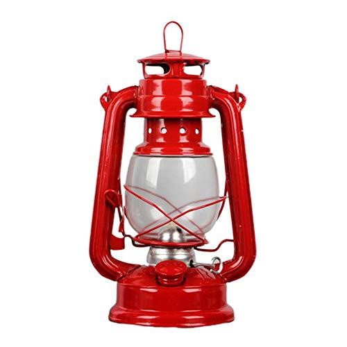 Cracklight Linterna de huracán, Queroseno portátil al Aire Libre, lámpara de Camping de Chapa de Hierro Antigua (25 15.5 11.5 cm) Classy