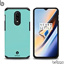 OnePlus 6T Case, BELTRON Premium Slim Heavy Duty Military Standard Dual Layer Protection Hybrid Rugged Shockproof, T-Mobile & Unlocked 1+ 6t 2018 Case (Mint)