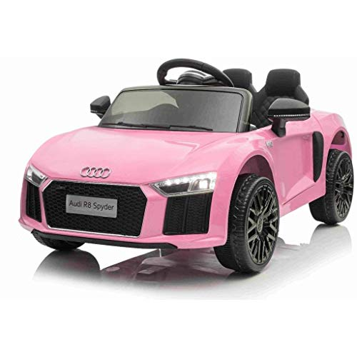 Kalco TOYS UK - 2018 Licensed Audi R8 (Mini) 12V Electric Ride on Kids Car with Parental Remote (PINK)