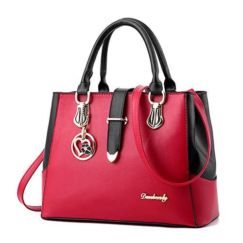 Damen Handtaschen Damen Persönlichkeit Kosmetiktasche groß Taschen Leder Moderne Damen Handtasche...