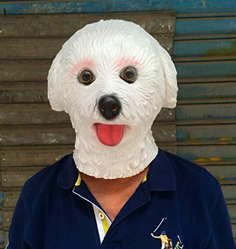 Rcsinway La Cabeza del arnés de la máscara de Gorila Blanco delirio Vender Meng Comedia apoyos de la demostración de Perro de Peluche de Halloween tocados (Color : White)