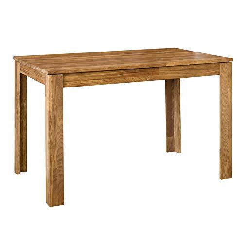 NordicStory - Tavolo da pranzo estensibile rettangolare L2, in legno massello di rovere naturale,...