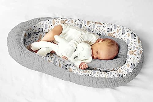Nido multifuncional para bebés y bebés, cuna de viaje, 100% algodón, antialérgico.